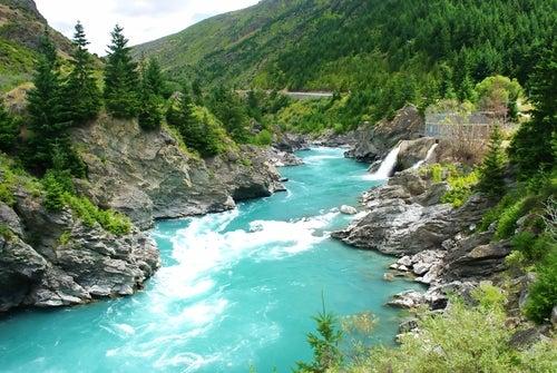 Río Kawarau en Nueva Zelanda