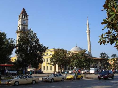 Torre del Reloj en Tirana