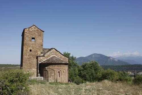 San andrés de Satué en el Serrablo