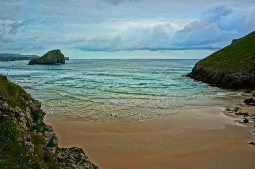 Playa de Poó en Asturias