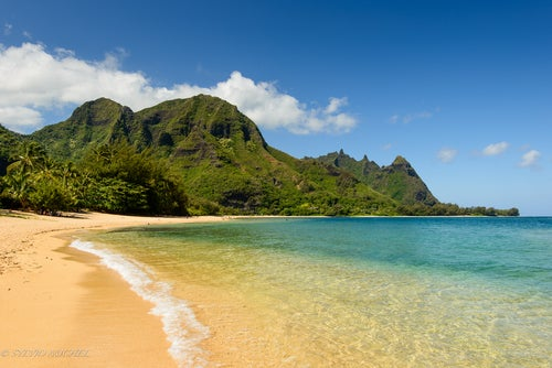 Tunnels Beach en Kauai