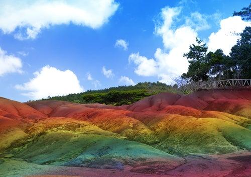 La Tierra de los Siete Colores en Chamarel, un paisaje único