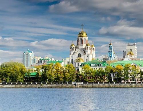 Iglesia sobre la Sangre en Siberia