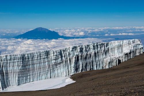 Glaciar en el Kilimanjaro