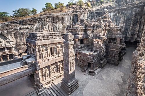 Los templos de Ellora en la India, magníficos