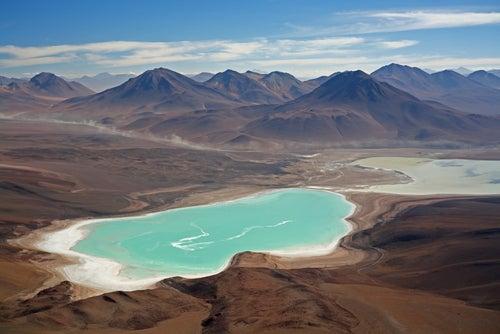Laguna Verde en Bolivia
