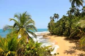 Playa en Manzanillo en Costa Rica