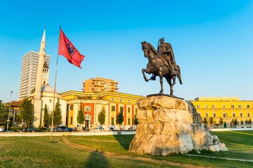 Plaza Skanderberg en Tirana