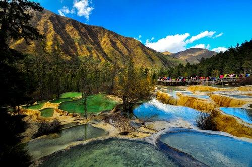 El valle de Huanglong y sus paisajes de fantasía