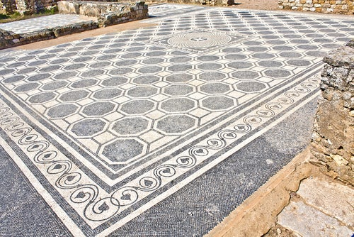 Mosaico en Ampurias
