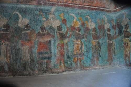 Mural en Bonampak
