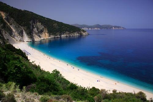 Playa de Myrtos en islas griegas