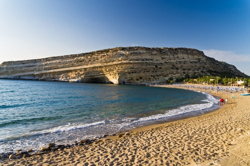Playa de Matala en Creta