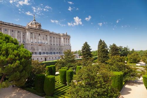 Jardines de Sabatini en el Palacio Real de Madrid