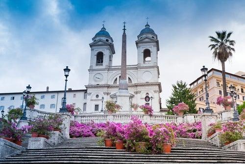 Escalinata dela Plaza de España en Roma