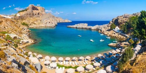 Bahía de St. Pauls en islas griegas
