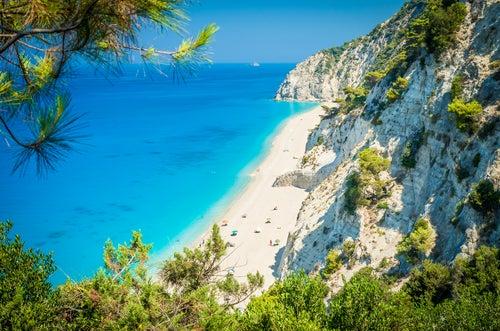 Playa Egremni en islas greigas
