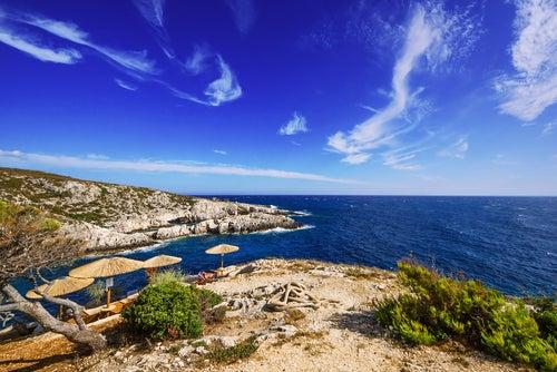Porto Limnionas en islas griegas