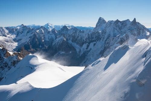 Monte Blanc en los Alpes