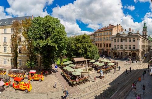 Plaza Rynok en Lviv
