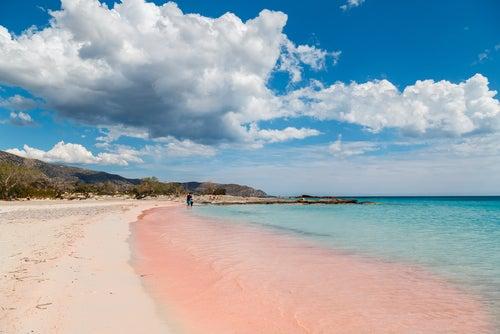 Playa de Elafonisi en islas griegas
