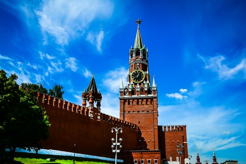 Relod de la Torre Spasskaya en Moscú