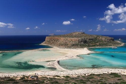 Playa de Balos en islas griegas