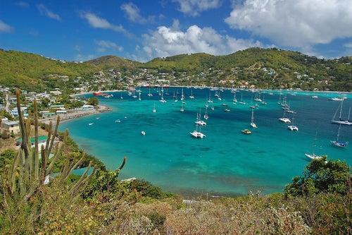 La isla de Bequia en el Caribe menos famoso