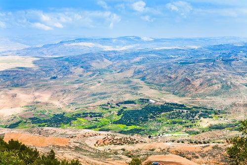 Vista desde el monte Nebo en Jordania