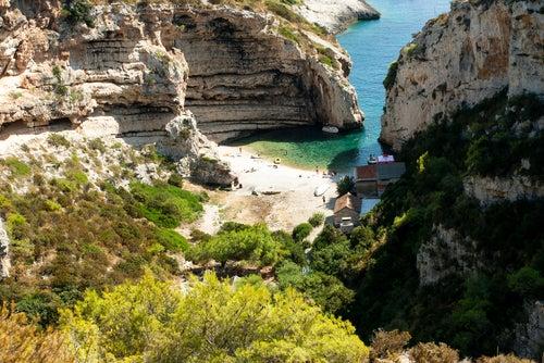 Playa Stiniva en Croacia