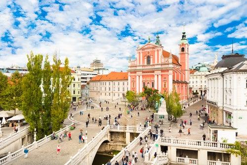 Plaza Preseren en Liublianai