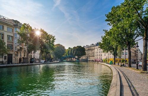 Canal Saint Martin en París