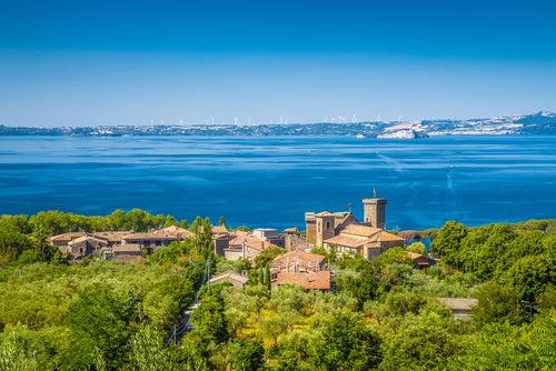 Lago di Bolsena en Italia