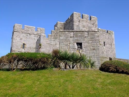 Castillo Rushen en la Isla de Man