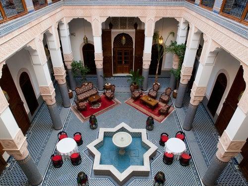 Los tradicionales riads, convertidos en hoteles boutique