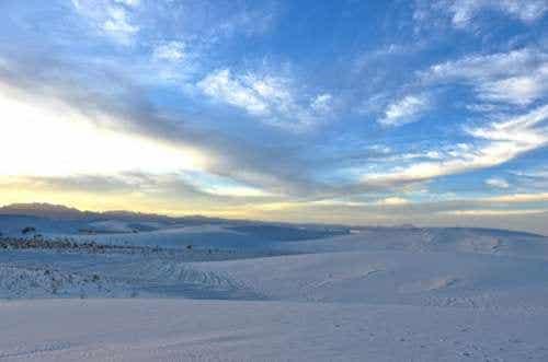 El desierto singular del Monumento Nacional de Arenas Blancas