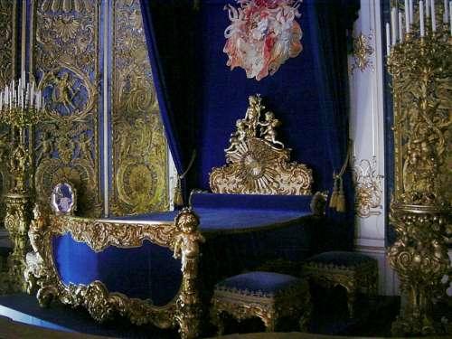 Habitaciónd el rey en Linderhof