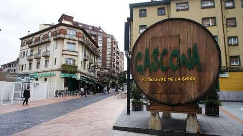 Calle Gascona en Oviedo