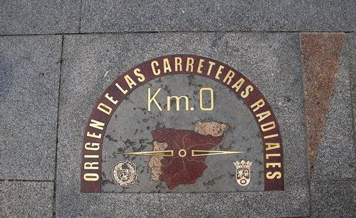 Kilómetro 0 Puerta del Sol de Madrid