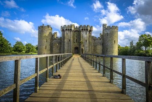 El castillo de Bodiam en Inglaterra, pura apariencia