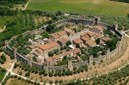 Monteriggioni en la Toscana