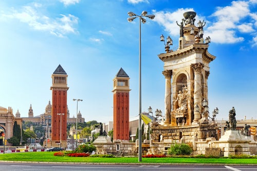 Plaza de España, primer punto del fin des emana en Barcelona