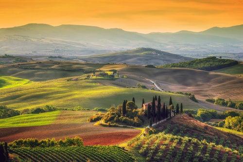 Valle del Orcia en la Toscana