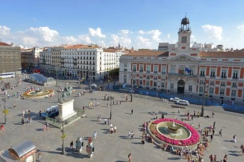 Madrid, Kilómetro 0 en la Puerta del Sol