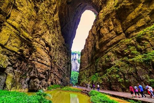 Parque Nacional de Wulong en China