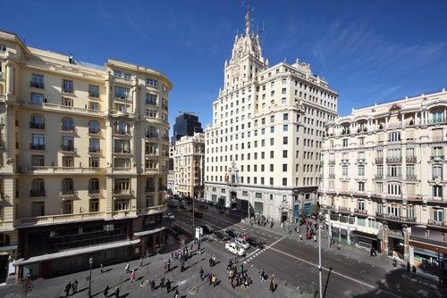 Edificio de Telefónica en la Gran Vía de Madrid
