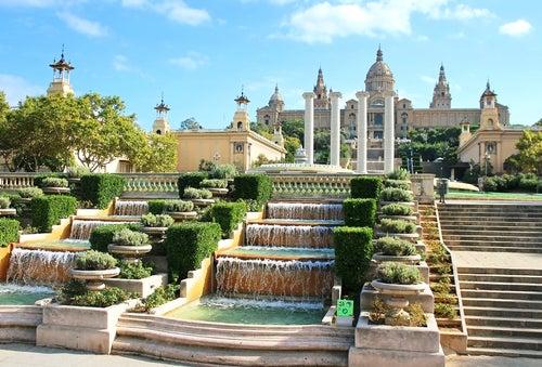 Damos un fantástico paseo por Montjuïc en Barcelona