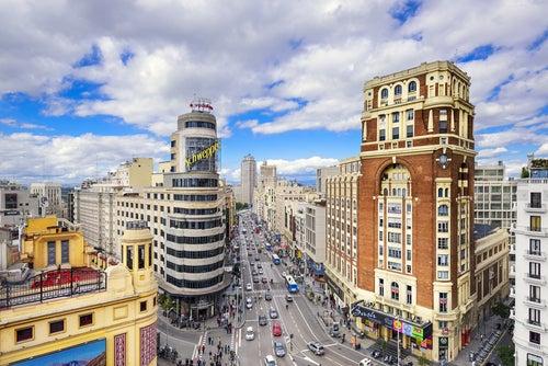 La Gran Vía, la arteria más famosa de Madrid