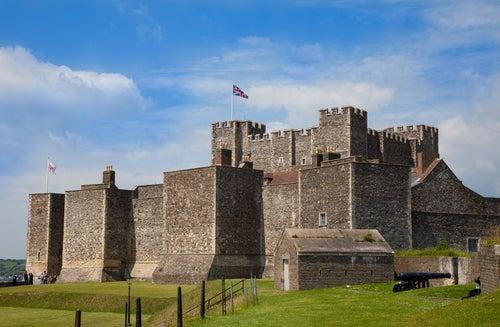 Castillo de Dover en condado de Kent