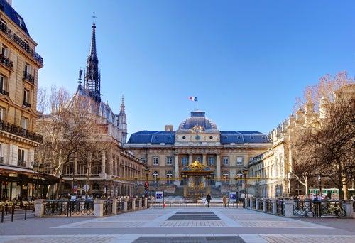 Place Louis Lepine en la isla de la Cité de Paris